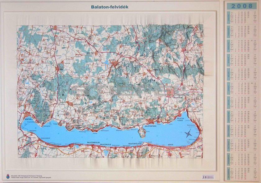 Balaton felvidék dombortérképe