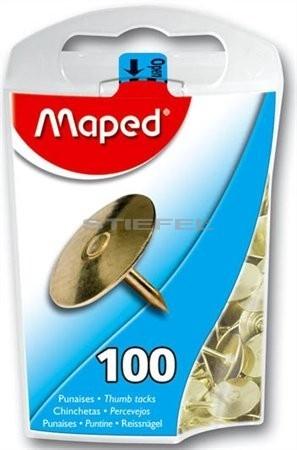 MAPED arany vagy acélszínű rajzszeg (100 db)
