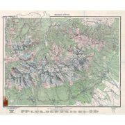A Magas Tátra térképe fakeretben