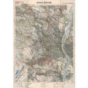 A Budai hegyek térképe fakeretben (1930)