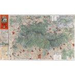 A Mátra térképe fakeretben (1933)