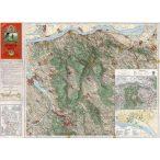 A Gerecse és Gete térképe fakeretben (1936)