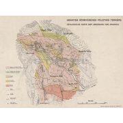 Aranyida környékének földtani térképe fakeretben