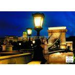 Buda vára tányéralátét könyöklő + hátoldalon Budapest belváros térképe