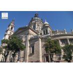 Bazilika tányéralátét könyöklő + hátoldalon Budapest belváros térképe