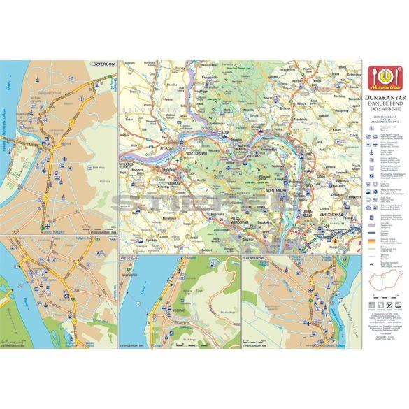 Visegrád képekben tányéralátét könyöklő + hátoldalon Dunakanyar térkép