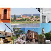 Szentendre képekben tányéralátét könyöklő + hátoldalon Dunakanyar térkép