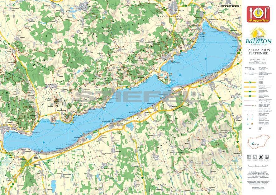 tihany térkép Tihany tányéralátét könyöklő + hátoldalon Balaton térkép