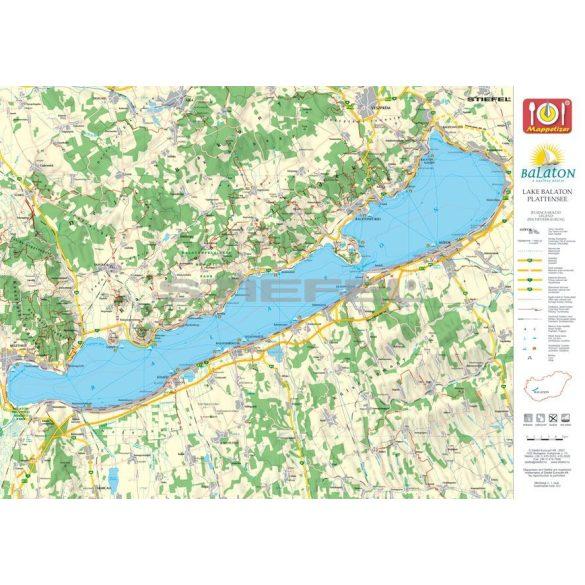 Tihany tányéralátét könyöklő + hátoldalon Balaton térkép