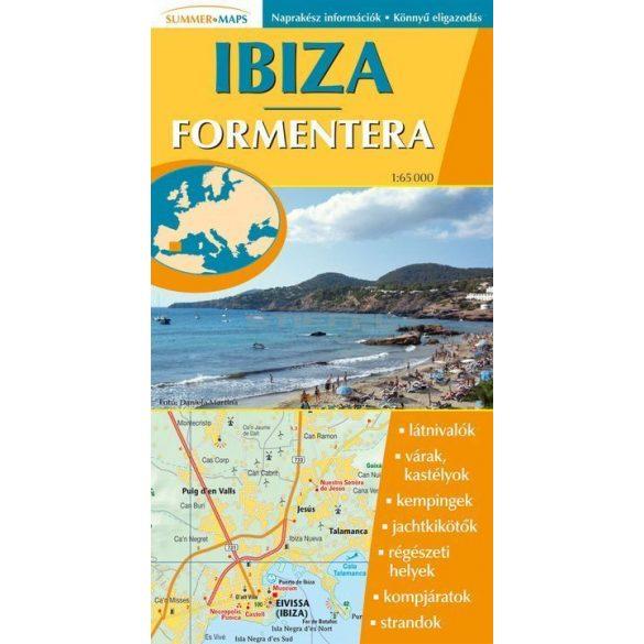 Ibiza hajtogatott autótérkép