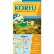 Korfu hajtogatott autótérkép