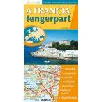 Francia tengerpart hajtogatott autótérkép