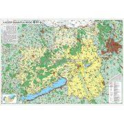 A Közép-Dunántúli régió térképe, tűzhető, keretes falitérkép
