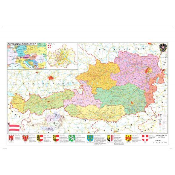 Ausztria irányítószámos térképe