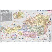Ausztria szervező térképe fóliás-fémléces