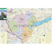 Zala megye térkép fémléces, fóliázott