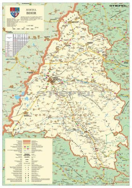 Bihar Megye Romania Terkepe Tuzheto Keretes