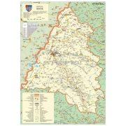 Bihar megye (Románia) térképe, tűzhető, keretes