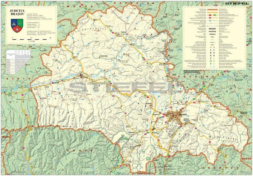 Brasso Megye Romania Terkepe Tuzheto Keretes