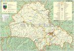 Brassó megye (Románia) térképe, tűzhető, keretes