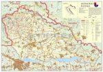 Muraköz megye (Horvátország) térképe, tűzhető, keretes