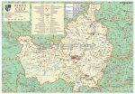Kolozs megye (Románia) térképe, tűzhető, keretes