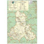 Hargita megye (Románia) térképe, fóliás-fémléces