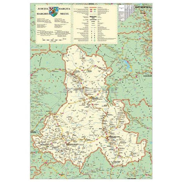 Hargita megye (Románia) hajtogatott térképe