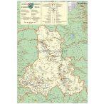 Hargita megye (Románia) térképe, tűzhető, keretes