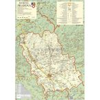 Prahova megye (Románia) térképe, tűzhető, keretes