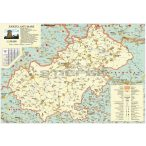 Szatmár megye (Románia) térképe, tűzhető, keretes