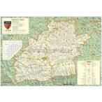 Szeben megye (Románia) térképe, tűzhető, keretes