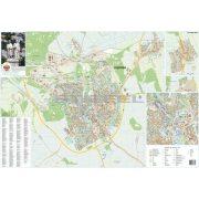 Veszprém város térképe, tűzhető, keretes