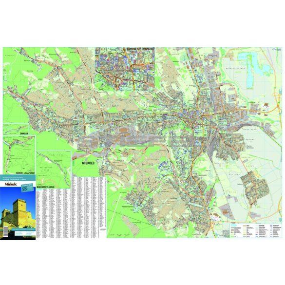 Miskolc várostérkép (hajtogatott, puhaborítós)