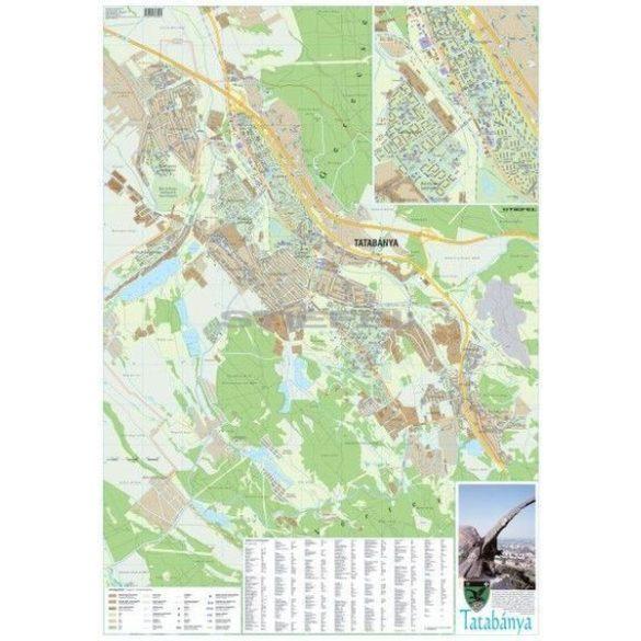Tatabánya város térképe, tűzhető, keretes