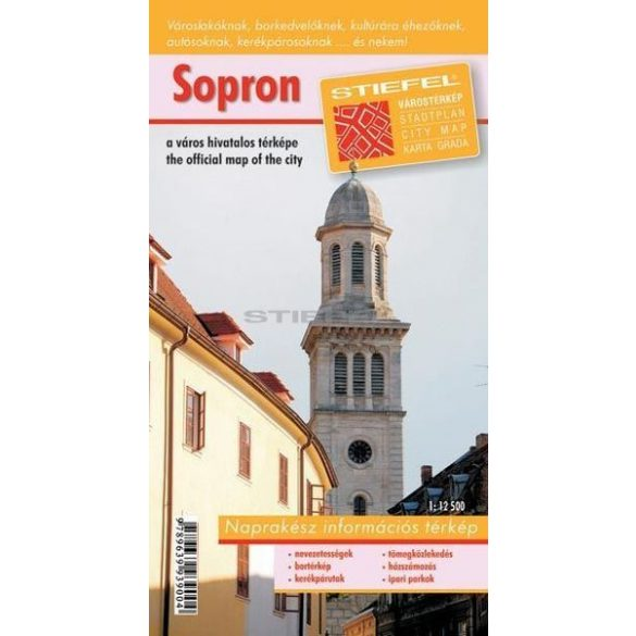 Sopron várostérkép (hajtogatott, puhaborítós)