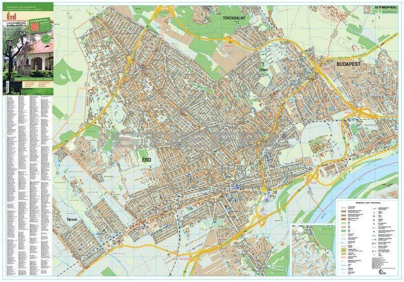 térkép érd Érd térkép fémléces térkép érd