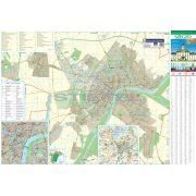 Szeged város térképe, tűzhető, keretes