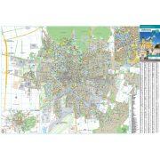 Debrecen város térképe, tűzhető, keretes