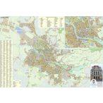 Nagyvárad város (Románia) térképe, tűzhető, keretes