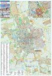 Szombathely város térképe, tűzhető, keretes