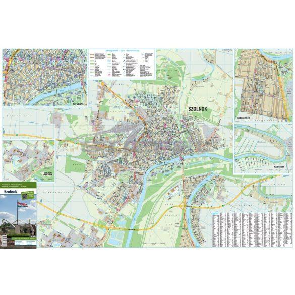 Szolnok város térképe hajtogatott