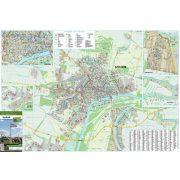 Szolnok város térképe, tűzhető, keretes