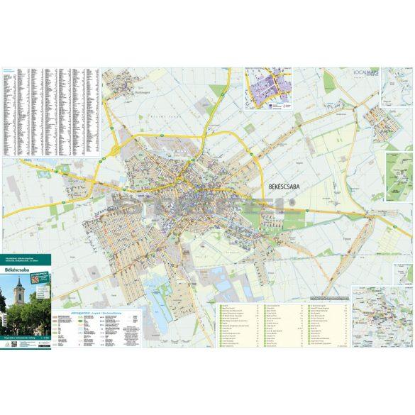 Békéscsaba hajtogatott térkép