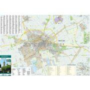 Békéscsaba térkép, keretezett