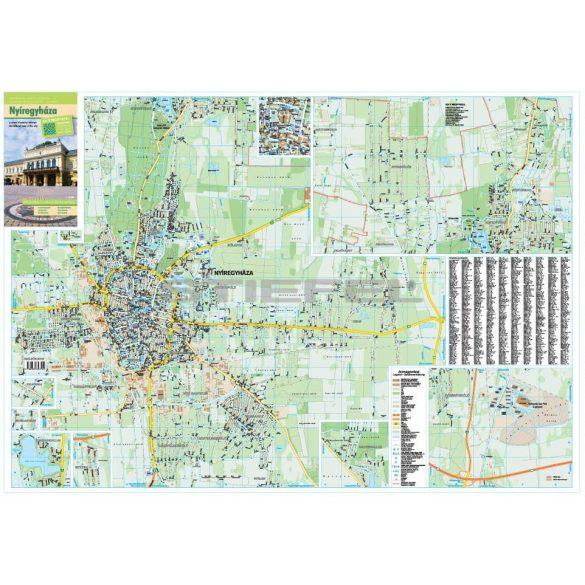 Nyíregyháza térkép keretezett, tűzhető