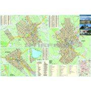 Kiskőrös-Soltvadkert-Kecel tűzhető, keretezett térképe