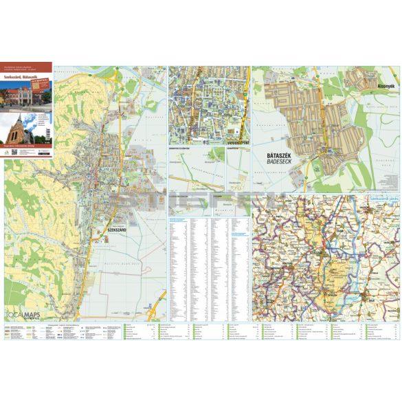 Szekszárd-Bátaszék faléces várostérképe