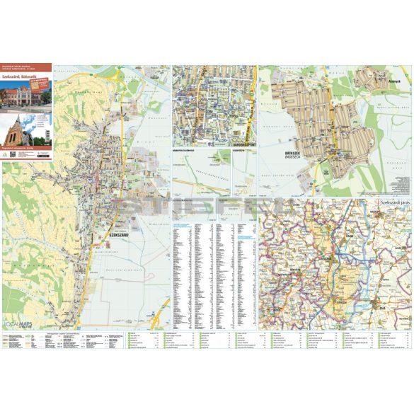 Szekszárd-Bátaszék fémléces várostérképe