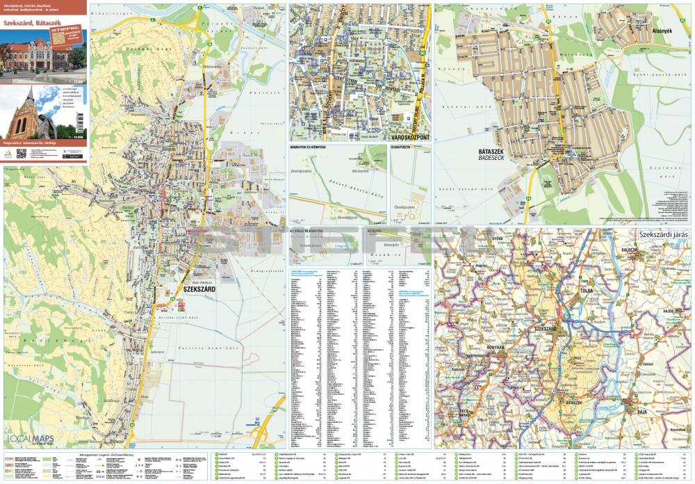térkép szekszárd Szekszárd és Szekszárdi borvidék térkép tûzhető, keretes térkép szekszárd